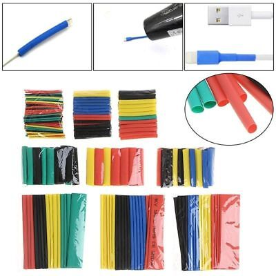 328pcs 8 Size 21 Polyolefin Heat Shrink Tubing Tube Sleeve Wrap Wire Set