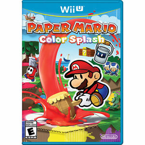 Paper Mario Color Splash for Wii U mint condition