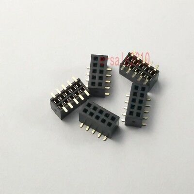 10pcs 1.27mm Pitch 2x5 Pin 10 Pin Female Double Row Smt Smd Pin Header Strip Pcb