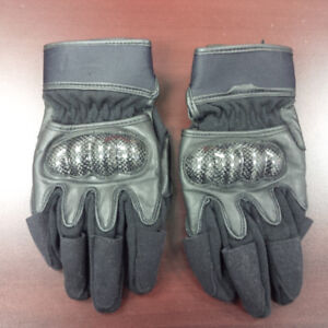 FIRST RACING LEATHER MOTORCYCLE GLOVES-BLACK