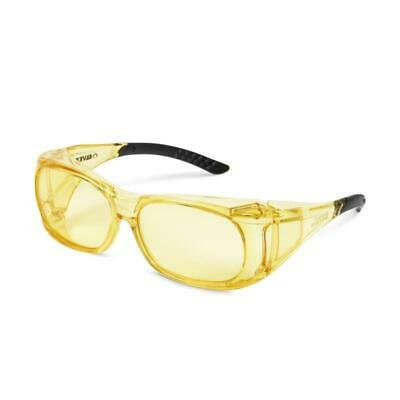 Elvex Ovr Spec Yellow Fit Over Glasses Safety Glasses Shield Ballistic Night