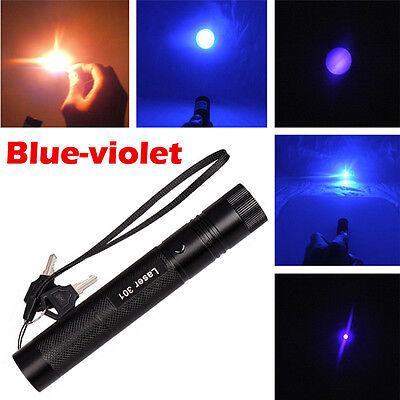 US Adjustable Focus Military Blue-Purple Laser Pointer Pen 5mw 532nm Burning NEW on Rummage