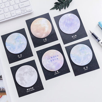 New Space Planet Sticky Note Dreamy Paper Memo Pad Message Writing Stickers Mini