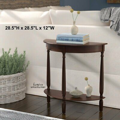 Entryway Console Table for Hallway Sofa Small Accent Brown Wood Shelf Furniture