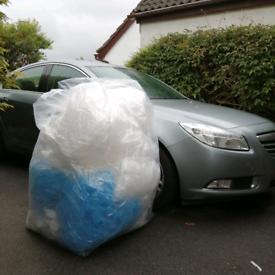 HUGE bag of bubblewrap, air bags and foam
