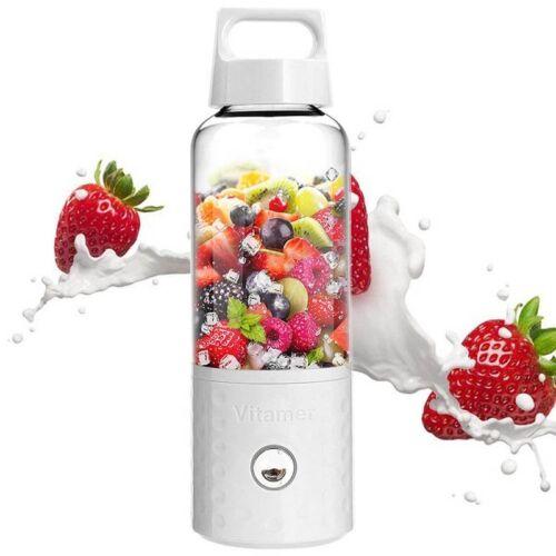 Portable Electric Juicer Fruit Vegetable Smoothie Maker Blender USB Rechargeable