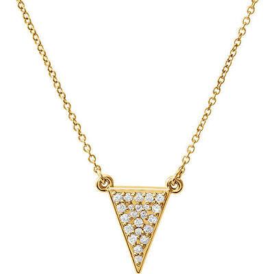 Diamond Triangle Necklace - Diamond Triangle 16.5