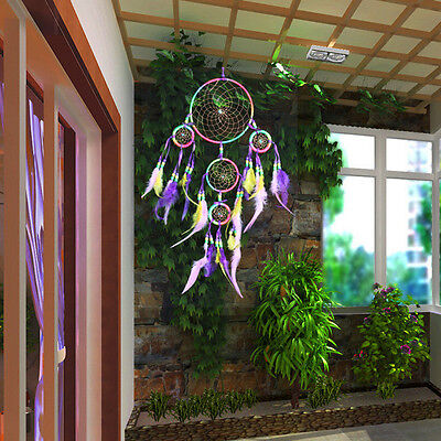 "Handmade Dream Catcher with Feather Wall Hanging Decoration Ornament-24"" Long"