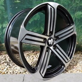 "18"" Phase 2 R-Line Alloy Wheels for VW Golf mk5, mk6, mk7, Jetta, Caddy Etc"