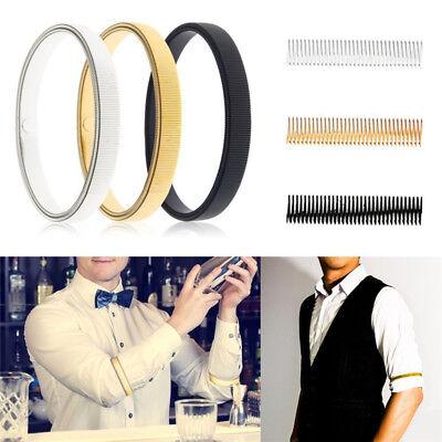 Men Ladies Shirt Sleeve Holders Metal Arm Bands Hold Ups Garter Elasticated - Arm Garter
