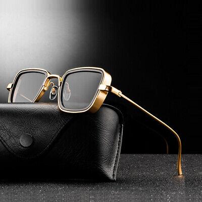 New Vintage Stylish Metal Steampunk Men Women Square Driving Sports Sunglasses