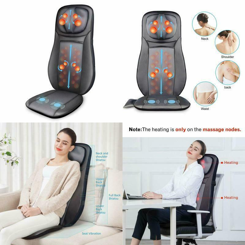 shiatsu neck and back massage cushion home