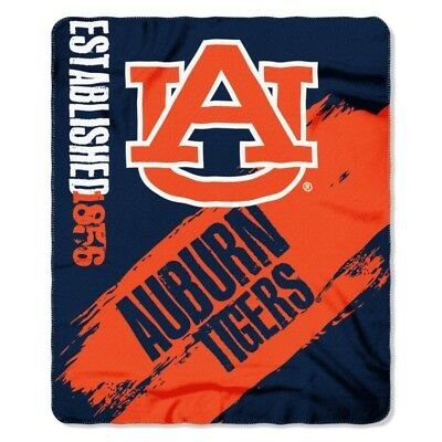 (Auburn Tigers NCAA Northwest Co 50x60 Painted Fleece Throw Blanket)