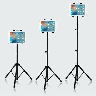 Universal Raking Foldable Floor Tripod Stand Mount for All iPad 7-11 inch Tablet
