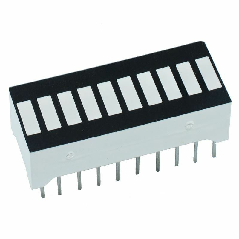 Red 10-Segment LED Bar Array Anode