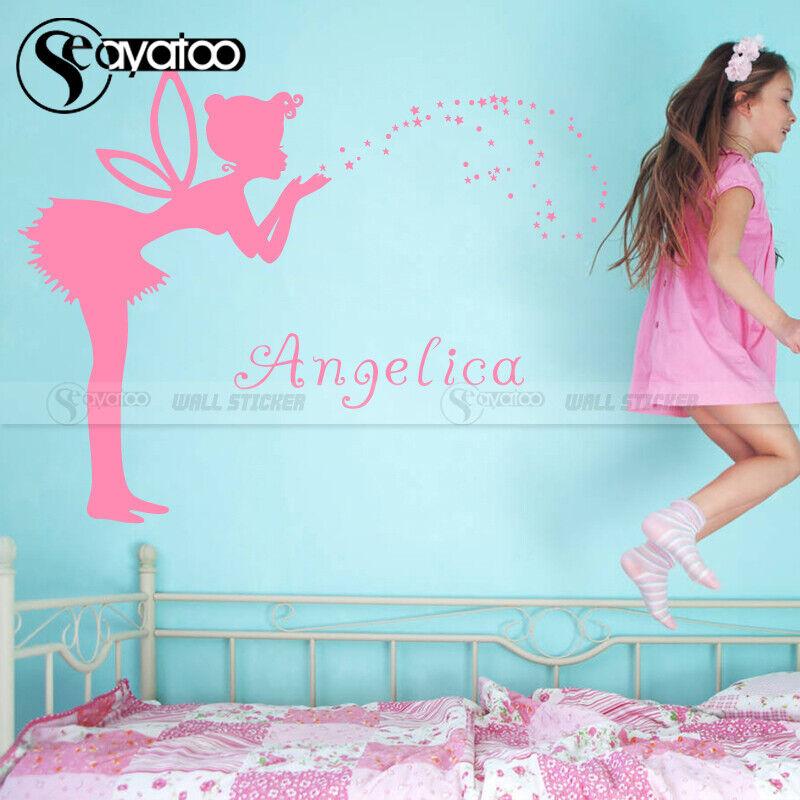 Genius Fairy Angel Star Custom Name Vinyl Wall Sticker Decal