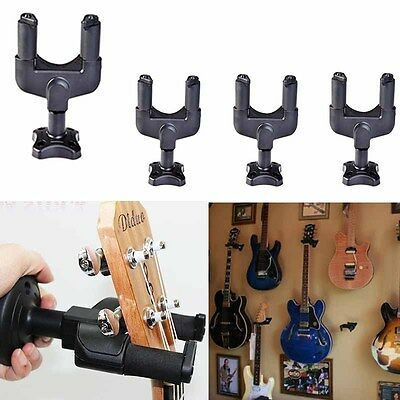 Lot 4 Guitar Hanger Stand Holder Hook Wall Mount Display Acoustic Electric Bass
