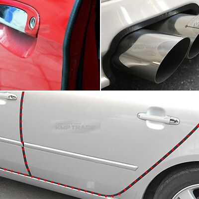 Union Jack European Car Slim Door Edge Guards Bumper Protector Molding 4pcs
