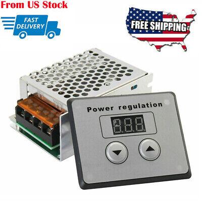 4000w Ac 220v Scr Voltage Power Regulator Motor Speed Control Digital Display
