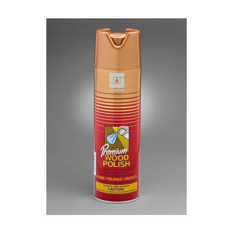 Spartan Premium Wood Polish, 20 oz aerosol, 12 Per Case