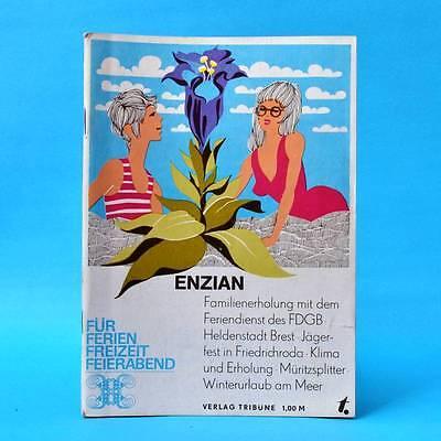 DDR Enzian EA 1976   Verlag Tribüne   Leseheft Zeitschrift Literatur W