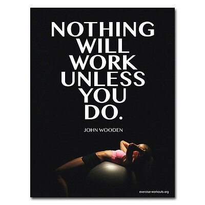 Bodybuilding Quotes Motivational Art Silk Poster Gym Room Decoration 12X18 24X36