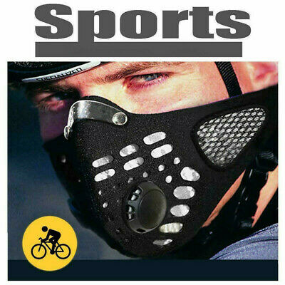 Cycling Cotton Anti Haze Face Cover Washable Mouth Muffle With Filter E