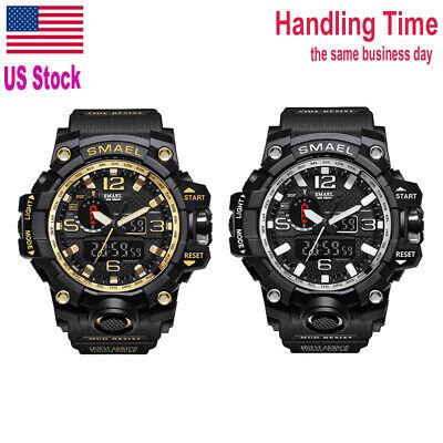 US Ship SMAEL SL1545 Waterproof Men Outdoor Sport Watch Quartz Analog Wristwatch