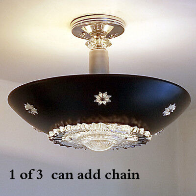 340b 50s 60s Vintage Ceiling Light Lamp Fixture atomic midcentury eames 1 of 3, used for sale  Kansas City
