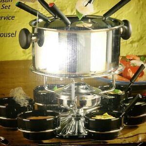 Home Presence 22 Piece Stainless Steel Fondue set bnib.