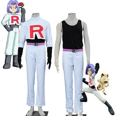 Original Exclusive COS Pokemon Team Rocket James Cosplay Costume Pocket Game ](Team Rocket Cosplay)
