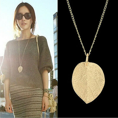 Cheap Costume Shiny Jewelry Gold Leaf Design Pendant Necklace Long Sweater M Nz - Cheap Costumes Nz