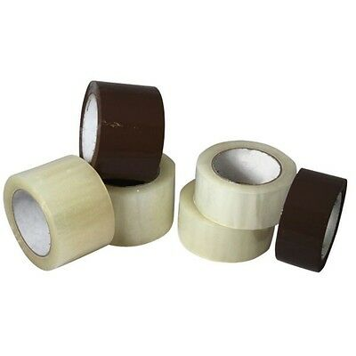 6 Rolls Carton Box Sealing Packaging Packing Tape 2 X 110 Yards - Clear