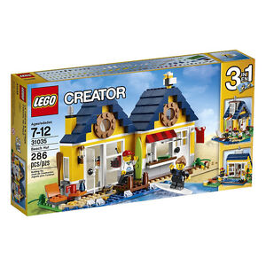 LEGO Creator BEACH HUT 31035 New-In-Box 3-in-1 BUILDING TOY