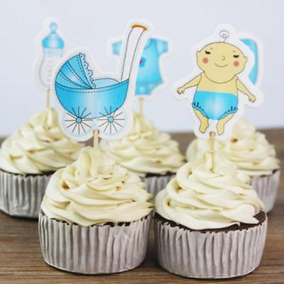 20Pcs Bake Baking Cupcake Toppers for Baby Shower Its a Boy/Girl Party Cake - Cupcake For Baby