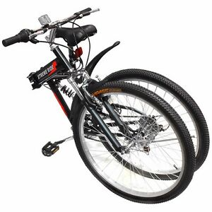 26-034-Folding-Mountain-Bicycle-7-Speed-Shimano-FOLDABLE-Bike-Black-MTB-Sport-Fold