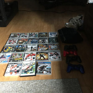 Play Station 3  22 games and 3 controllers
