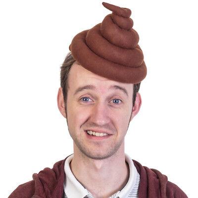 Hundehaufen Hut - Poo Hat Scherzartikel Witzig Hut Fasching Karneval Kostüm