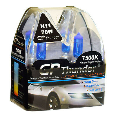 GP-Thunder II 7500K H11 Xenon Halogen Light Bulb 70W Super White (higher (70w Xenon Bulb)