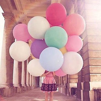 2Pcs 36  Inch Giant Large Big Latex Ballon Wedding Party Helium Decor Qw