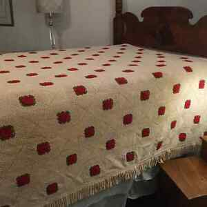Vintage hand crochet bed spread