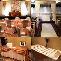 Wedding decoration, backdrops, ceremony decor