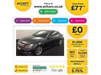 MERCEDES-BENZ C220 C250 D AMG LINE SPORT PREMIUM AUTO COUPE FROM £77 PER WEEK