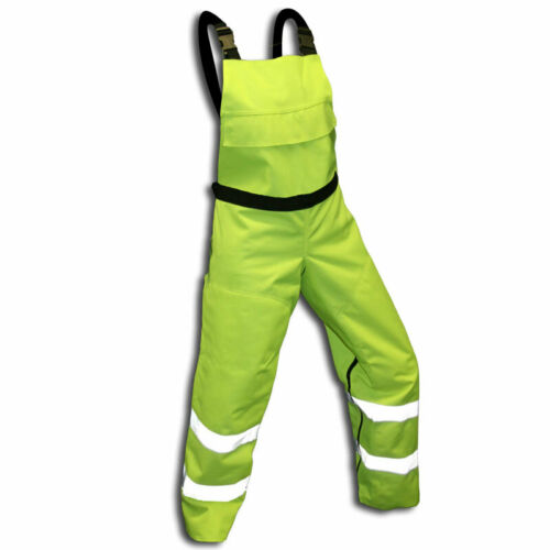 Chainsaw Protective Safety Bibs Hi-Vis Green   Meet OSHA Standards Bib Chaps