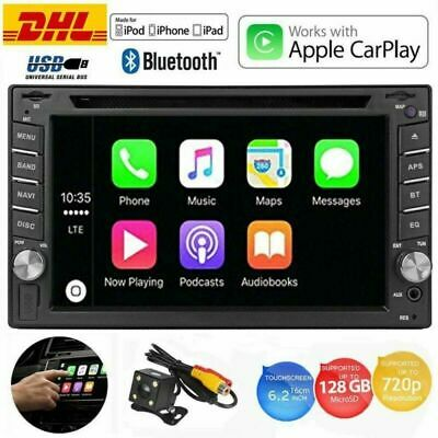 "6.2"" Doppel 2DIN Apple CarPlay Media Empfänger Autoradio mit Bluetooth DVD Play"