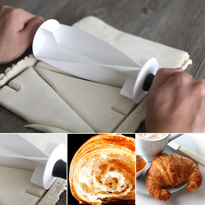 Rolling Croissant Cutter (Croissant Bread Make Rolling Cutter Wheel Dough Cookie Pastry Kitchen)