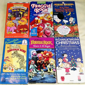 Lots of Retro Children's VHS Tapes