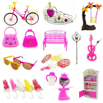 55Pcs Baby Toddler Toys Creative Cartoon Barbie Kurhn Jenny Dolls DIY Accessory