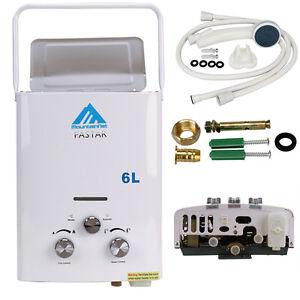 6L LPG Propan Gas Warmwasserheizung Durchlauferhitzer Oudoor Campe Wasserboiler