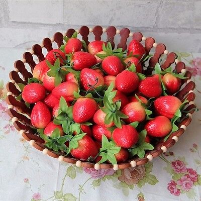 10pcs Artificial Foam Strawberry Fake Fruits Ornaments Party Home Decorations